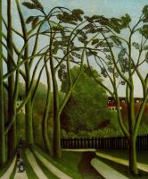 Анри Руссо. Пейзаж на берегах реки