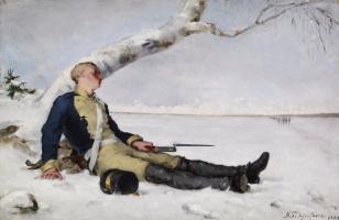 Helena Sophia Scherfbek. Wounded Warrior in the Snow