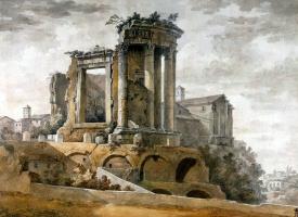 Шарль-Луи Клериссо. Храм Сибиллы в Тиволи