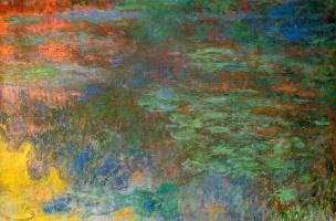 Клод Моне. Пруд с водяными лилиями, вечер (правая половина)