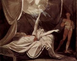 Иоганн Генрих Фюссли. Кримхильда видит во сне мёртвого Зигфрида