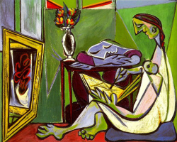 Pablo Picasso. Young woman drawing. Muse