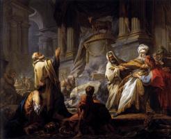 Жан Оноре Фрагонар. Иеровоам приносит жертву идолу