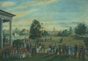 Александр Павлович Брюллов. Петербург. Гулянье на Крестовском острове. 1822
