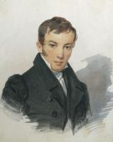 Петр Федорович Соколов. Портрет В.А. Жуковского. 1820-е
