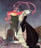 """Кей Нильсен. Иллюстрация к книге """"В пудре и кринолине"""". Старинные сказки"""