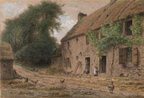 Jean-François Millet. House in Gruchy