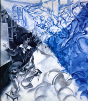 Марк Захарович Шагал. Автопортрет с музой (Сон)