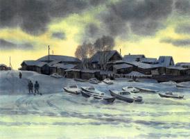 Albert Mikhailovich Tumanov. Winter in Saranpaul