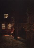 Василий Васильевич Верещагин. Внутренний вид деревянной церкви Петра и Павла в Пучуге. Этюд