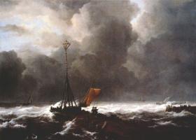 Якоб Исаакс ван Рейсдал. Шторм на море