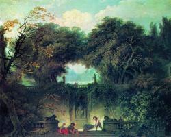Jean Honore Fragonard. The Park of Villa d'este