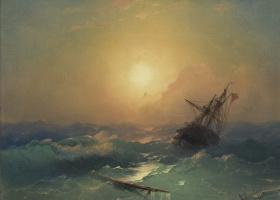 Ivan Aivazovsky. The ship in distress