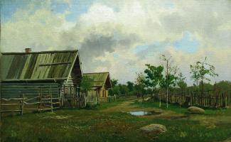 Ефим Ефимович Волков. Деревенский пейзаж