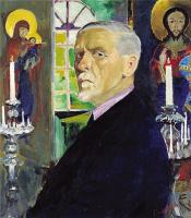 Филипп Андреевич Малявин. Автопортрет на фоне икон