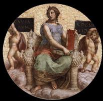 Станца делла Сеньятура. Роспись потолка. Фрагмент: Философия
