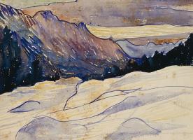Giovanni Giacometti. Winter landscape
