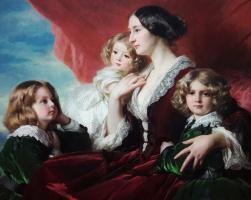 Франц Ксавер Винтерхальтер. Элиза Браницка, графиня Красиньска, со своими детьми. Фрагмент