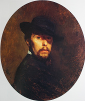 Николай Васильевич Неврев. Автопортрет. 1863