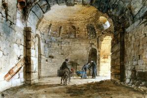 Жан-Пьер-Лоран Уэль. Античные бани в Монастыре кармелитов аль Индириццо в Катании