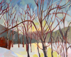 Angela Moulton. Aspen trees Montana in the winter