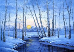 Ора Маринюк. Зимний закат
