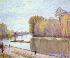 Канал дю Луан весной, утро