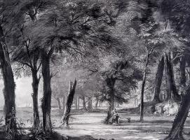 Корнелис Троост. Чтение джентльмена в лесу