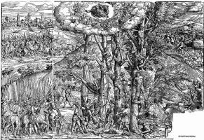 Доменико Кампаньола. Мученичество десяти тысяч христиан