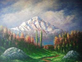 Наджаф Мамедов. В горах