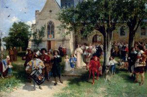 Йозеф Исраэлс. Свадебная процессия