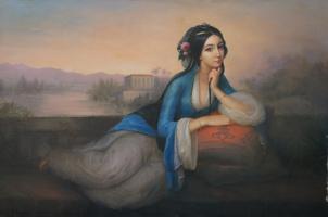 Неизвестный  художник. Восточная девушка (Ренуар)