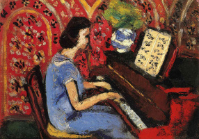 Анри Матисс. Женщина у фортепиано