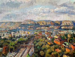 Sofia Rychanova. View of Kislovodsk from the 8th floor