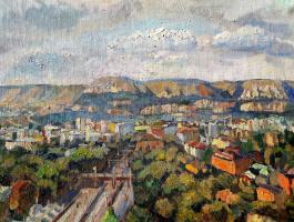 София Рычанова. Вид  Кисловодска с 8 этажа