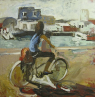 Elena Gostyushina. Fisherman's quay