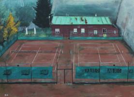 Денис Григорьевич Русаков. Теннисный корт