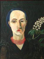 Татьяна Николаевна Глебова. Автопортрет с цветком каштана