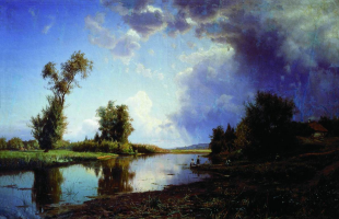 Joseph Evstafievich Krachkovsky. Before the storm. At the end of summer. Odessa Art Museum, Ukraine.
