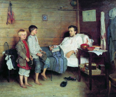 Николай Петрович Богданов-Бельский. У больного учителя