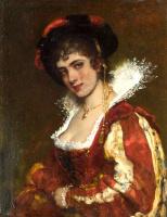 Эжен де Блаас. Портрет венецианской леди