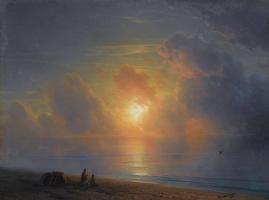 Ivan Aivazovsky. Sunset over the Crimean coast