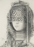Alexander Grigoryevich Tyshler. A portrait of his wife, Anastasia Tyshler