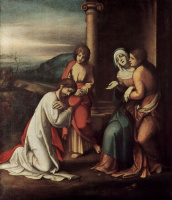 Антонио Корреджо. Прощание Христа с Марией, с Марфой и Марией