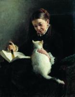 Николай Александрович Ярошенко. Портрет дамы с кошкой