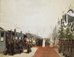 Михай Зичи. Вынос гроба с телом Александра III
