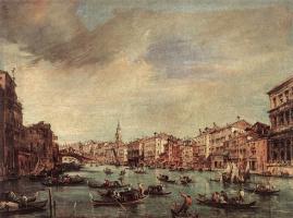 Франческо Гварди. Гранд-канал. Заглядывая в мост Риальто