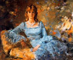 Рикардо Макаррон. Девушка в синем