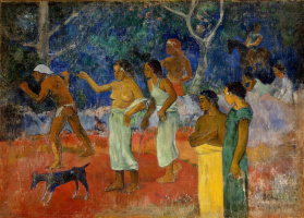 Поль Гоген. Сцена из жизни таитян