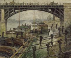 Claude Monet. Dockers charcoal